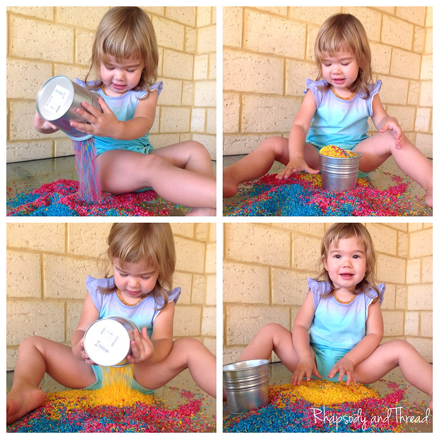 Tutorial Tuesday --> How To Make Rainbow Coloured Rice In 3 Easy Steps! By Rhapsody and Thread