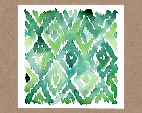 Watercolor-Print-Ikat
