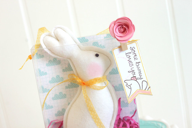no-calorie white chocolate bunny