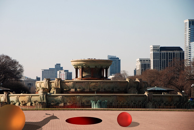 Himalayan Monal and Sudden Holes, Buckingham Fountain, Grant Park, Chicago, April 9, 2014 2 full