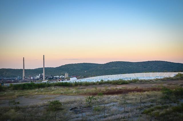 Arsenic waste near Tsumeb smelter
