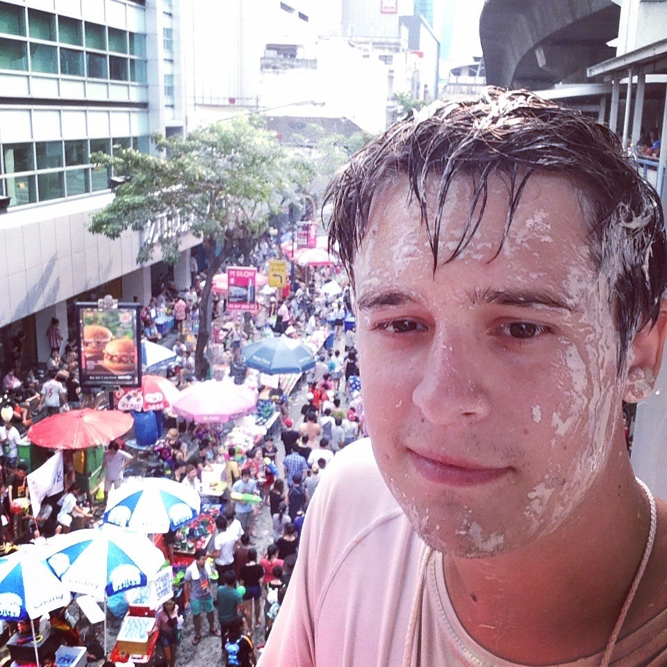 Songkran. Silom Road - Bangkok, Thailand. 26