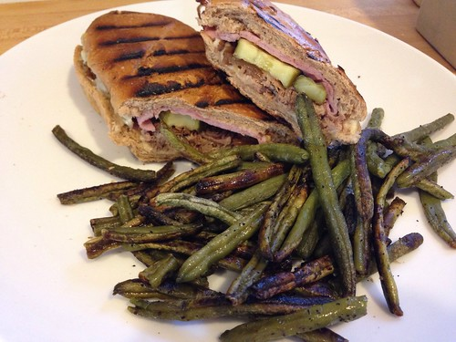 cuban sandwiches with roasted green beans