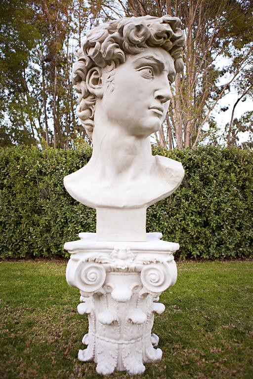 David Bust & Capital Pedestal