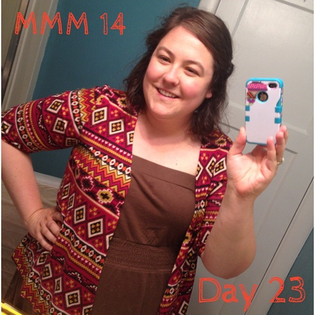 #mmm14 #memademay day 23 it's raining here (thankgod!) so you will have to settle for an awkward bathroom selfie. Me made sweater, dress rtw. Turn out I haven't made an solid colored dresses that look ok with this sweater, must remedy soon!