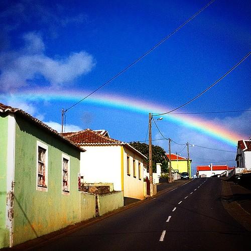 Rainbow after the rain.     #terceira #Azores