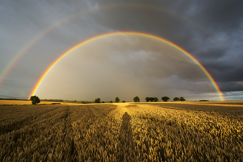 Rainbow sillhouette
