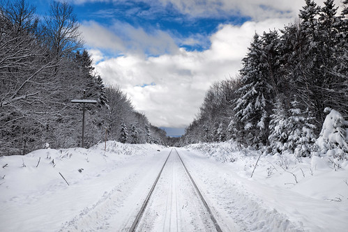 03ndsoftgrad 8mile algomacentralrailway bleachbypass canadiannationalrailway clouds fifthline fujixt1 gnd1s hiawathahighlands landscape leeseven5 mile8 nature northernontario ontario railroad railway saultstemarie sky snow train traintracks trees viveza winter xf1855mm