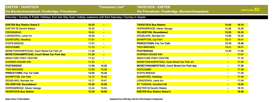 www.dartline coaches.co.uk wp content uploads 2013 03 Service Timetable 26 03 2013.pdf