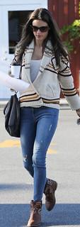 Alessandra Ambrosio Studded Biker Boots Celebrity Style Women's  Fashion
