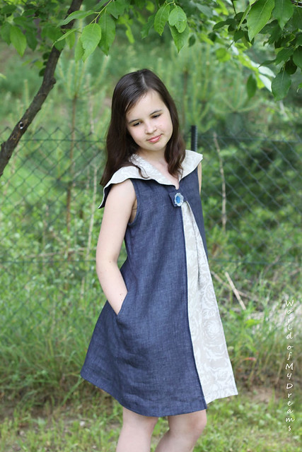 Goodship Dress. Blue