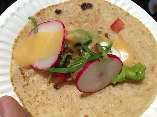 Tacos Punta Cabras: Bay Scallop Taco w/ Uni