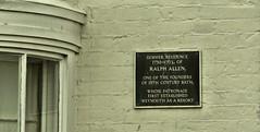 Photo of Ralph Allen black plaque