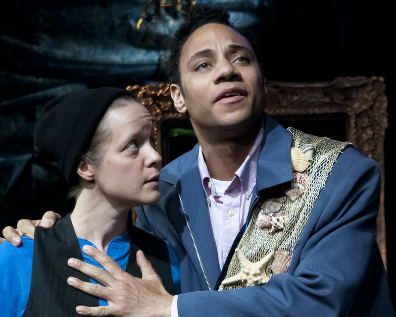 Photo by Teresa Castracane. Esther Williamson and Ricardo Evans in Twelfth Night.