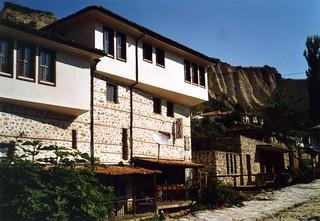 Bulgarie  cheminées de fées village, Melnik