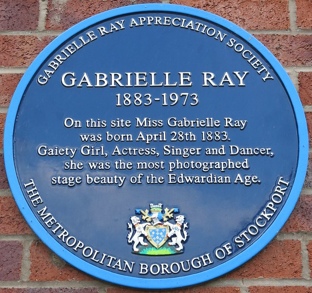 Photo of Gabrielle Ray blue plaque