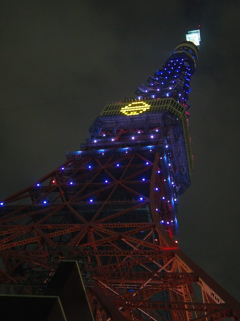 Doraemon colored lightup Tokyo Tower