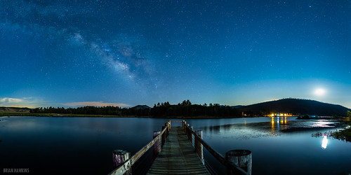 panorama reflection water dock galaxy nightsky lakecuyamaca brianhawkins brianhawkinsphotography imagenumber130713001023