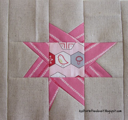 Improv star, sewing mat WIP