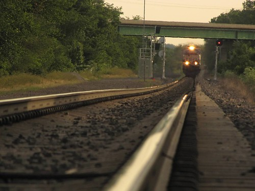 railroad bridge summer train traintracks perspective trains iowa corning highway34
