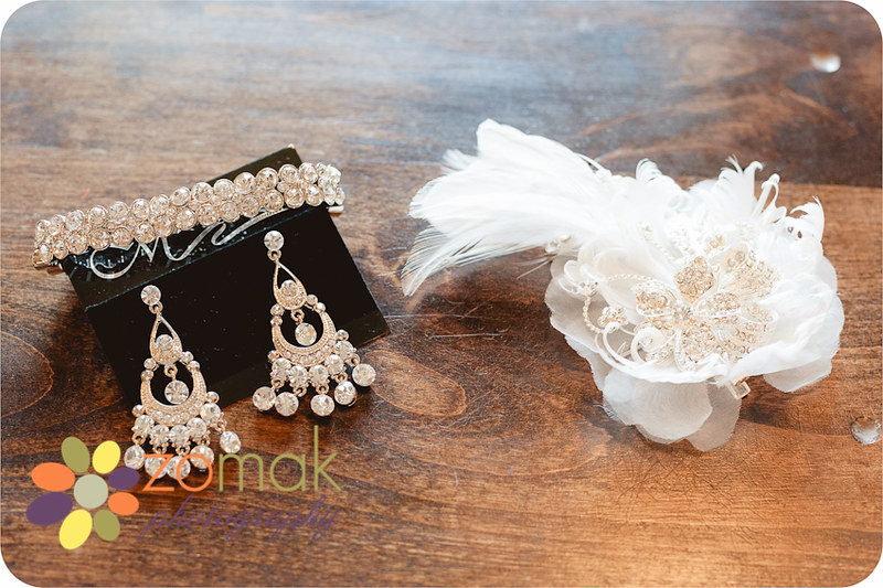 Details image of Bride's jewelrybefore she gets ready for her wedding in helena montana
