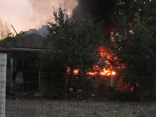 incendio cascinale orto