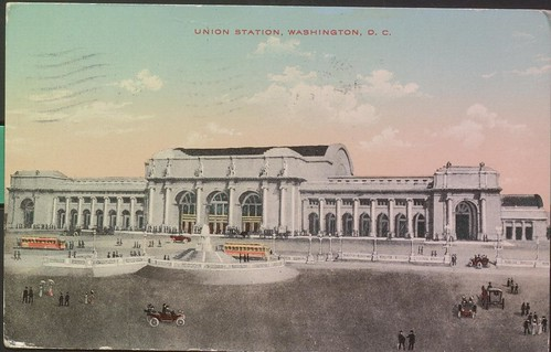 Union Station postcard, front, 1913