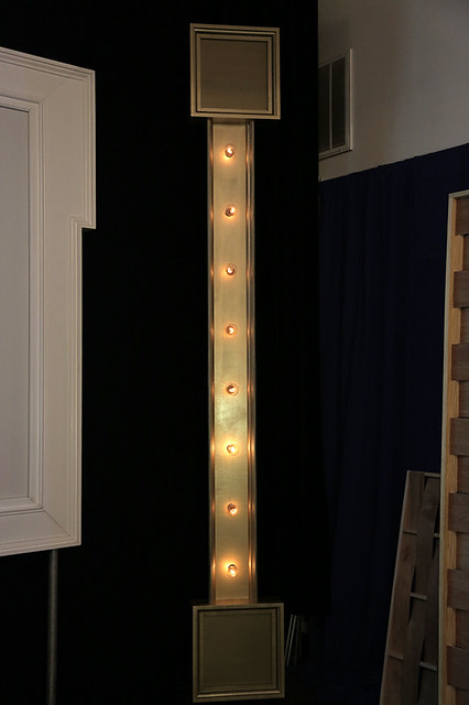 Lighted Marquee Columns