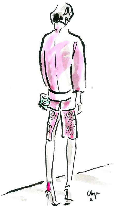 Burberry SS14 lym Evernden Illustration