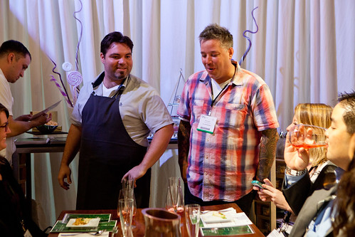Chef Phillip Speer of Uchi (in plaid shirt, right) for his Pop Up Pastry Tasting