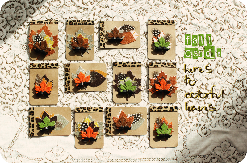 {fall cards} here's to colorful leaves