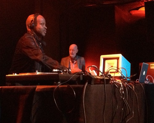 Juan Atkins with Alex Paterson of the Orb at Decibel Festival 2013