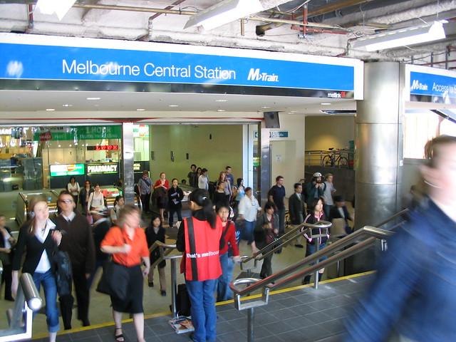 Melbourne Central Station main exit (October 2003)