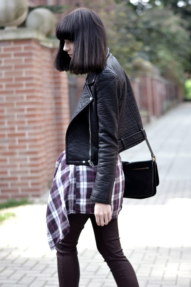 Outfit 90s Nineties jacket check print sojeans blogger CATS & DOGS Blog 5
