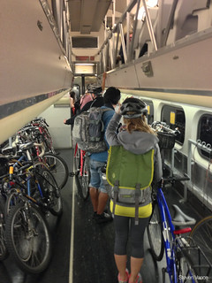 Bike car on Caltrain