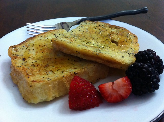 Lemon poppyseed French toast!
