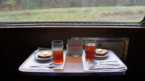 Reserved table, Potomac Eagle club car