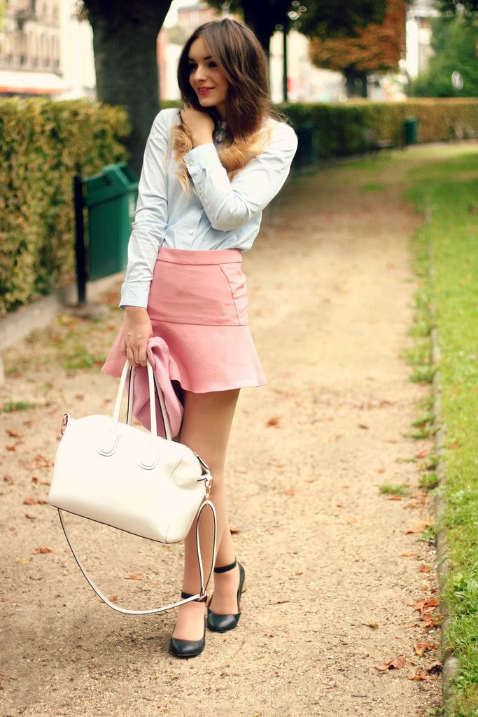 Pastel Outfit Vivetta Pink Zara Skirt