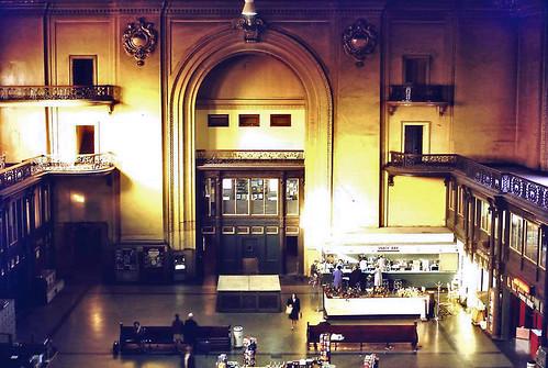 union station waiting room   sept 1968  albany ny 1960s