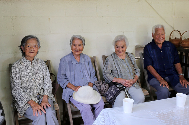 Some of the elderly folks in Okinawa, all in their 80s and 90s