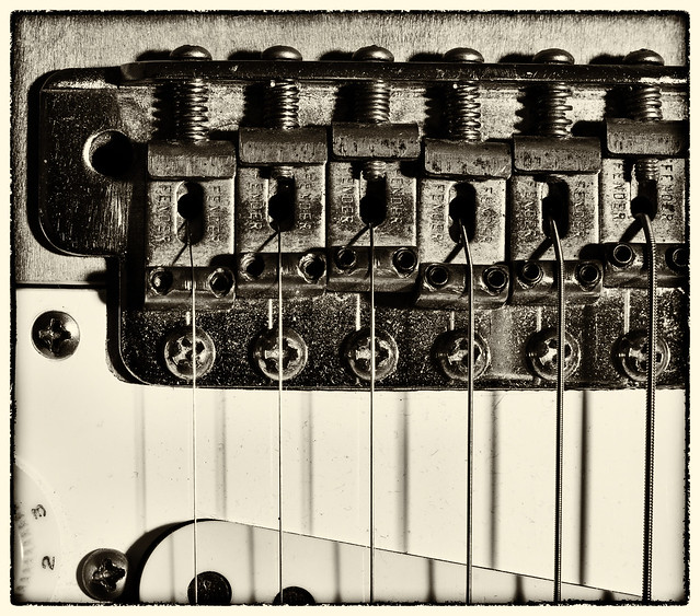 Photo:Fender Stratocaster tonal bridge By keith ellwood