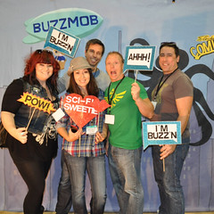 Geekin' out @ the Buzzmob photo booth.