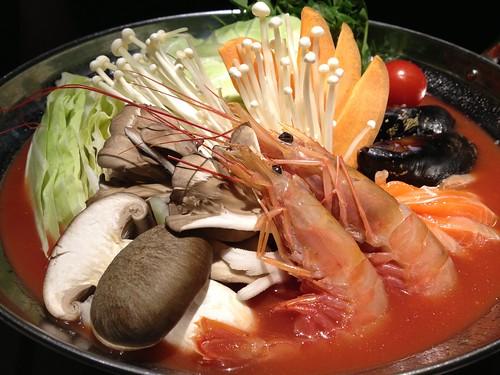 超豪華スペイン風海鮮完熟トマト鍋@水想
