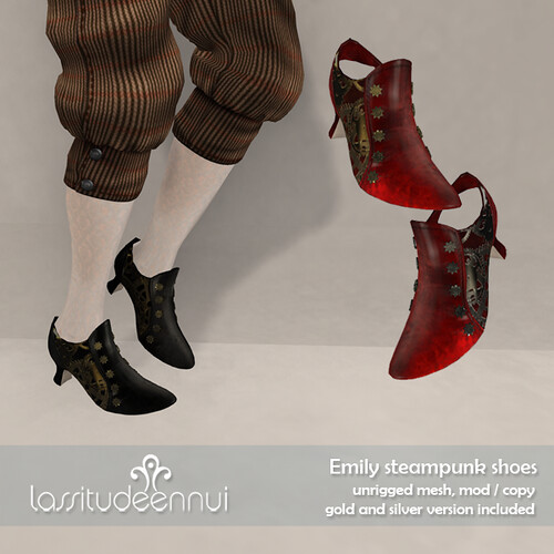lassitude & ennui Emily steampunk shoes