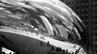 Chicago Skyline Reflected Bean