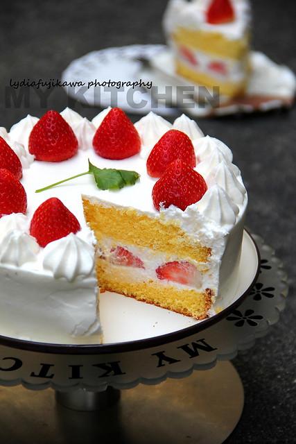 My Kitchen: Strawberry Cake [Beautiful Autumn - Nara Park]