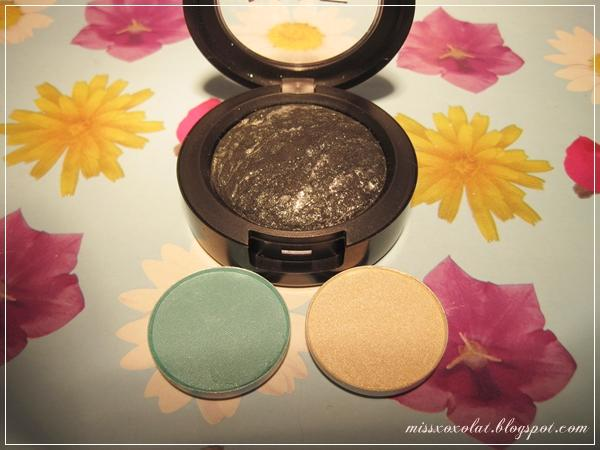 MAC Mineralize Eyeshadow Smutty Green, e/s Nylon und Aquadisiac