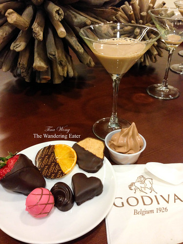 My spread of Godiva goodies, including their soft serve ice cream