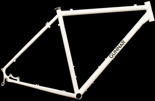 Gunnar Rock Tour in White with Black Bullseye Decals | by Gunnar Cycles