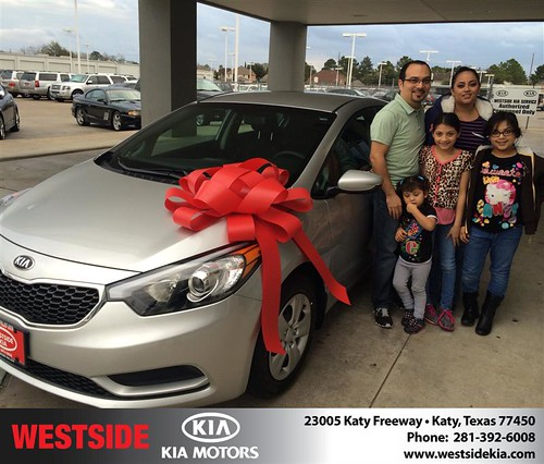 Thank you to Ricardo Garcã­A on your new 2014 #Kia #Forte from Orlando Baez and everyone at Westside Kia! #NewCar by Westside KIA